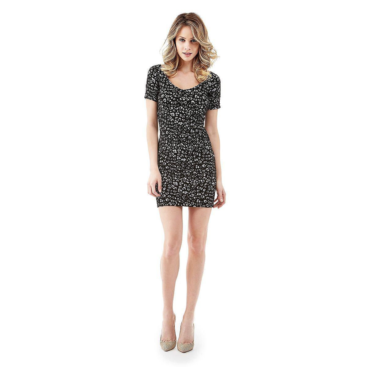 Guess jurk Clorinda Lepard multicolor
