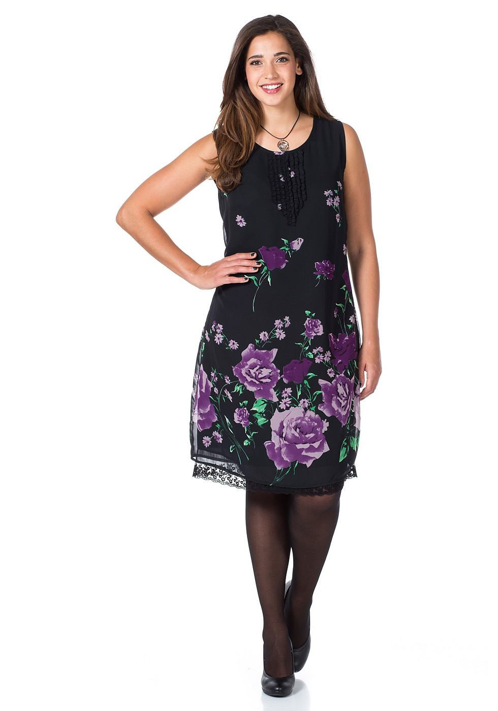 sheego Style jurk lila
