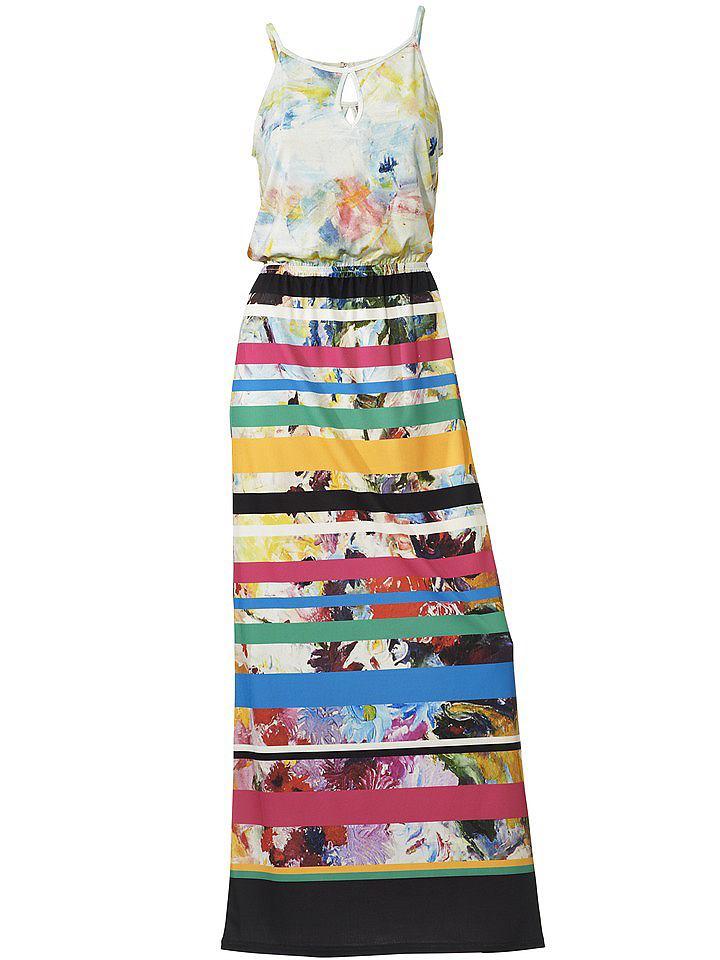 Gedessineerde jurk multicolor