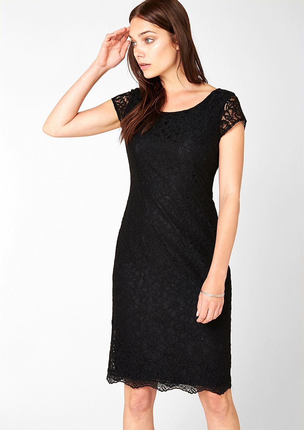 s.Oliver Premium Accentuerende kanten jurk zwart