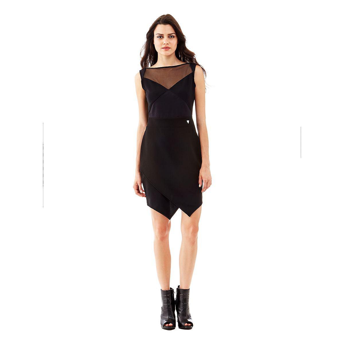 Guess jurk Kalipasia Monaco Ponte zwart