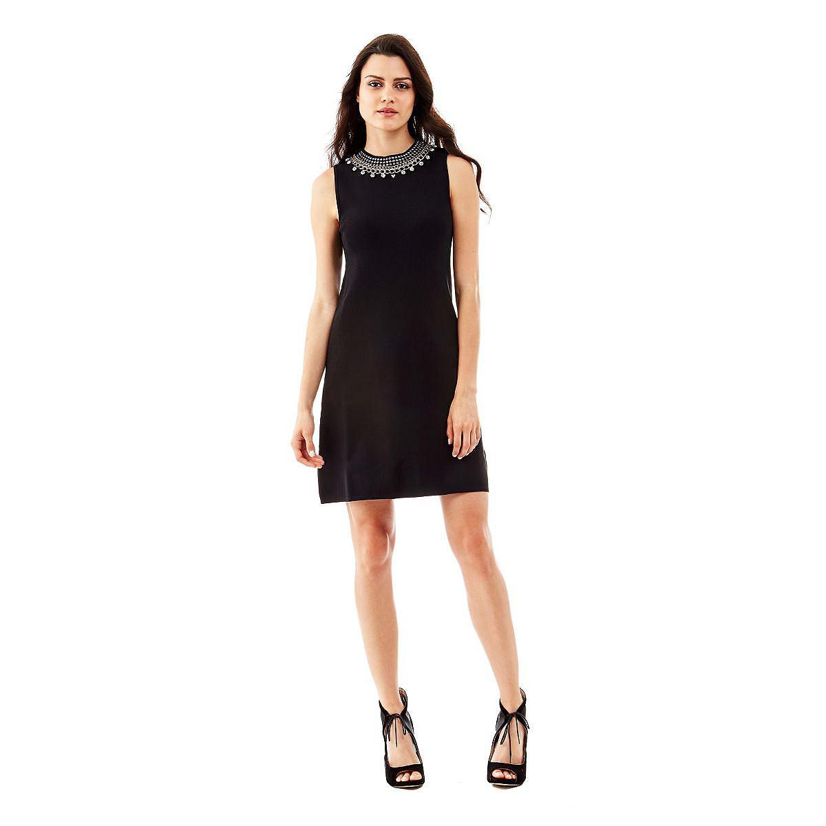 NU 20% KORTING: Guess jurk Bernarda A-line zwart