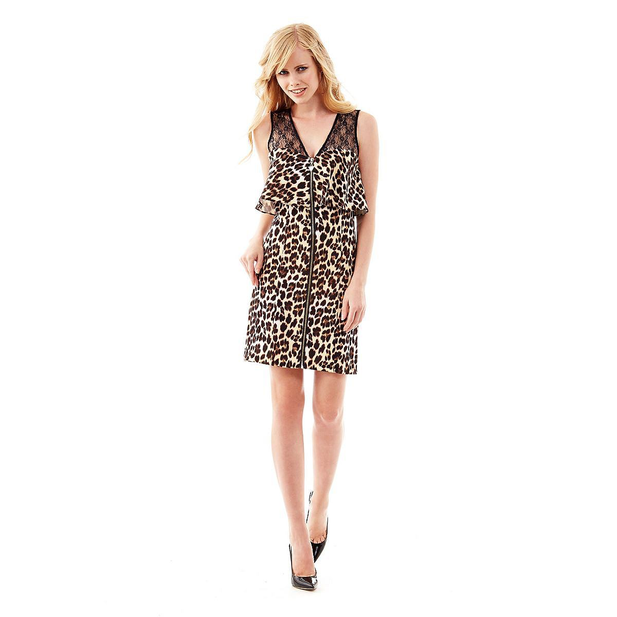 Guess jurk Becky Animalier multicolor