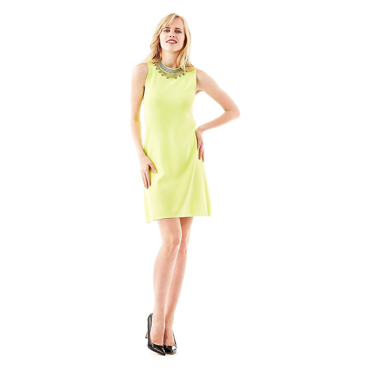 Guess jurk Bernarda A-line geel