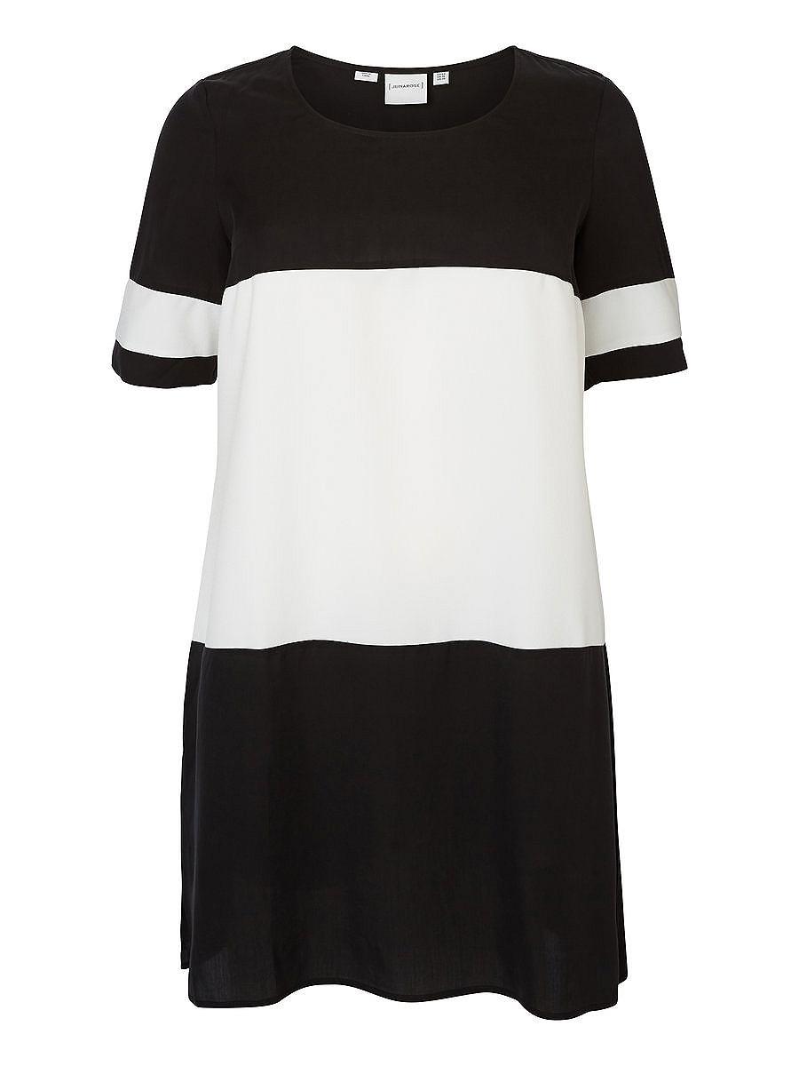 Junarose Met colourblock jurk zwart