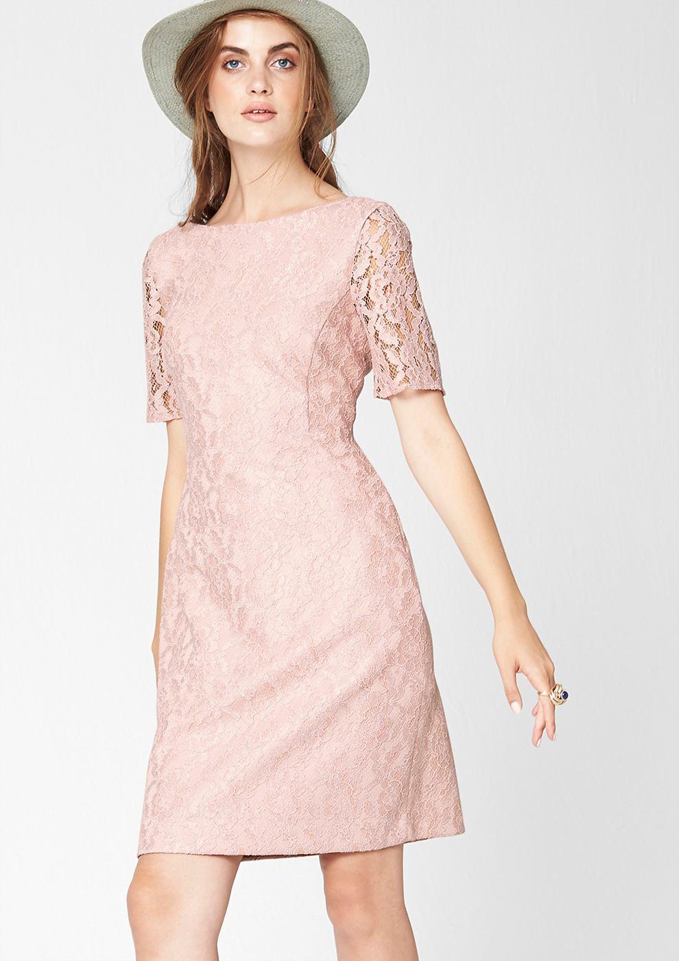 s.Oliver Premium Aansluitende jurk met rughals roze