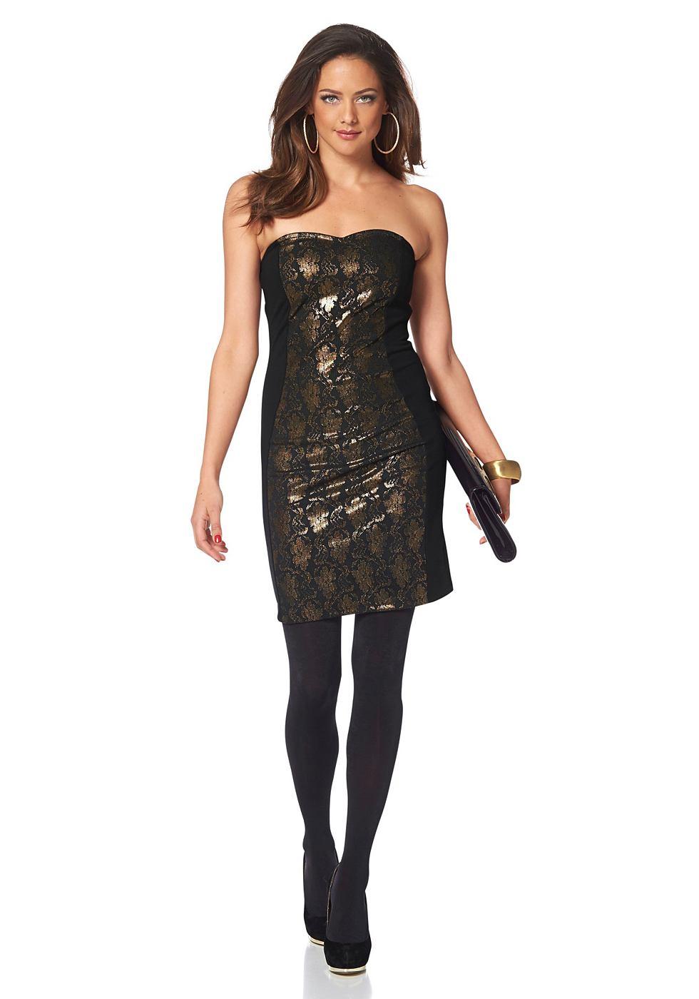 Melrose jersey-jurk met afneembare bandjes zwart