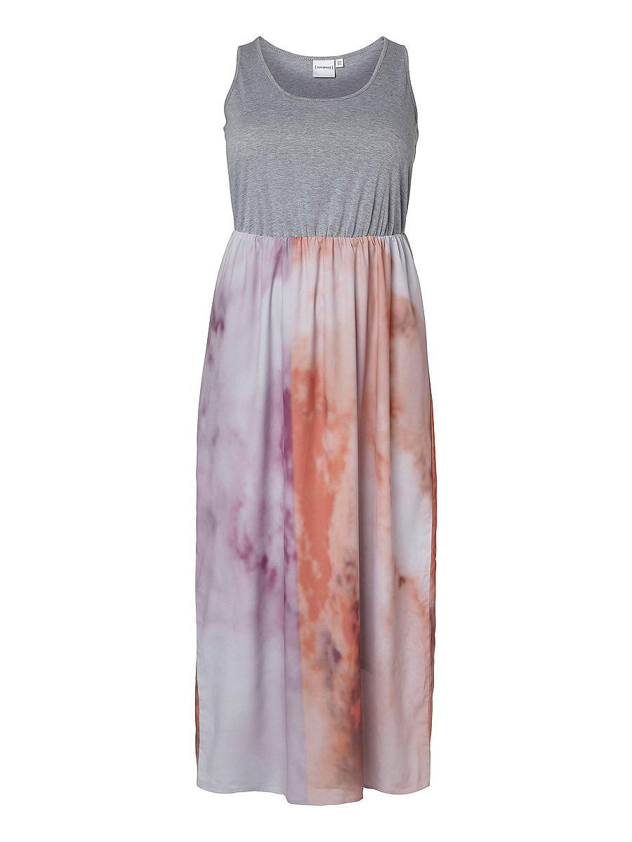 Junarose Met print Maxi jurk oranje