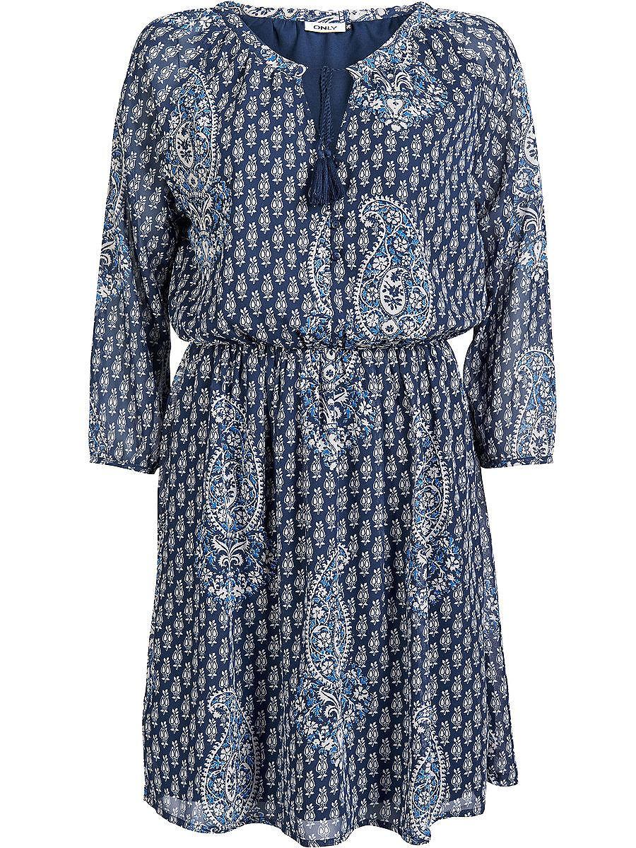 ONLY Met print Korte jurk blauw