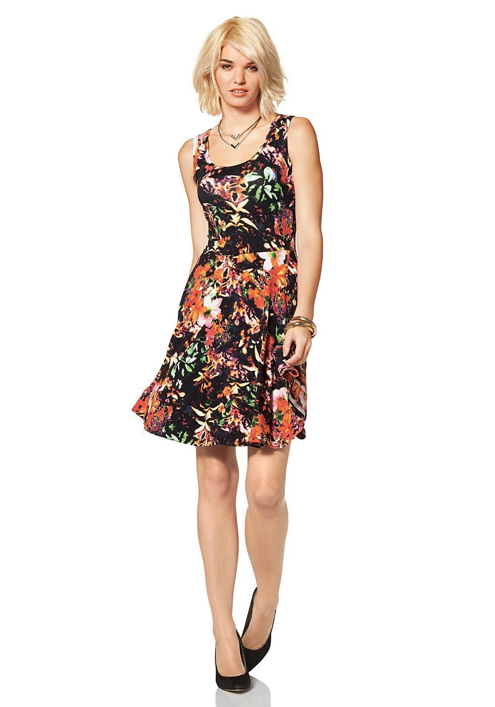 Laura Scott jersey-jurk met allover-print multicolor