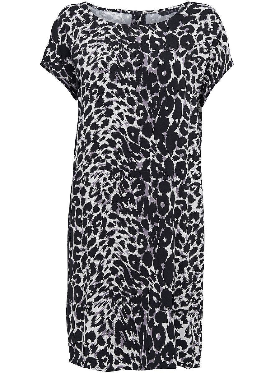 ONLY Met print jurk met korte mouwen zwart