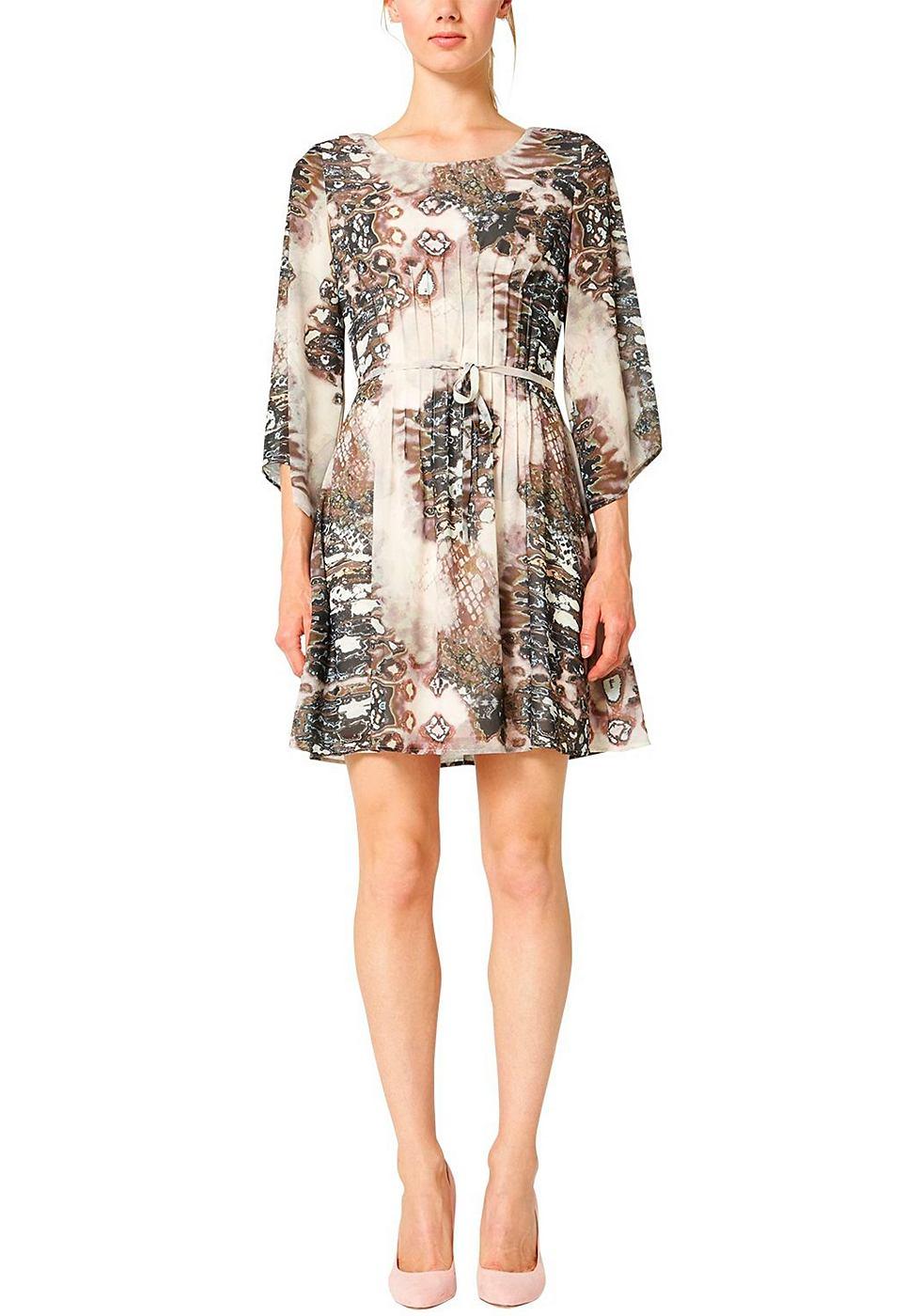 s.Oliver Premium chiffon-jurk met print allover multicolor