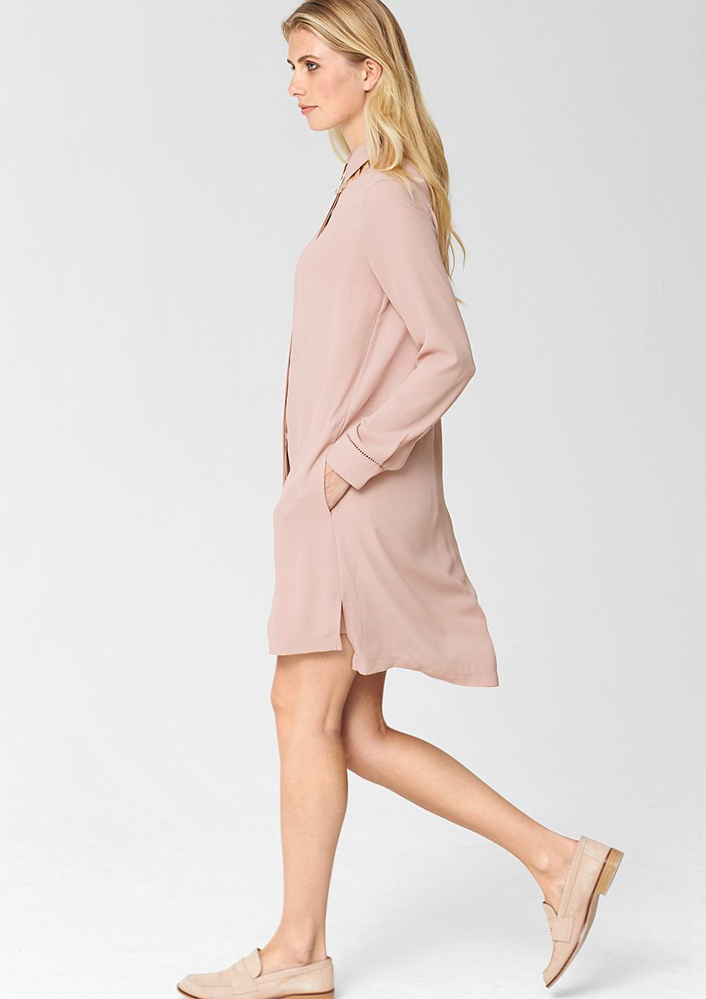 s.Oliver Premium Shirtdress roze