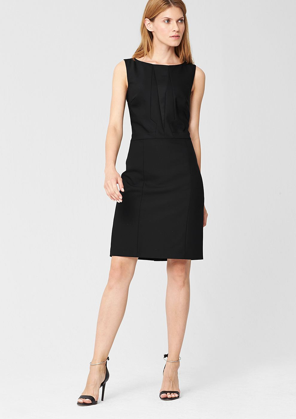 s.Oliver Premium jurk met moderne coupenaden zwart