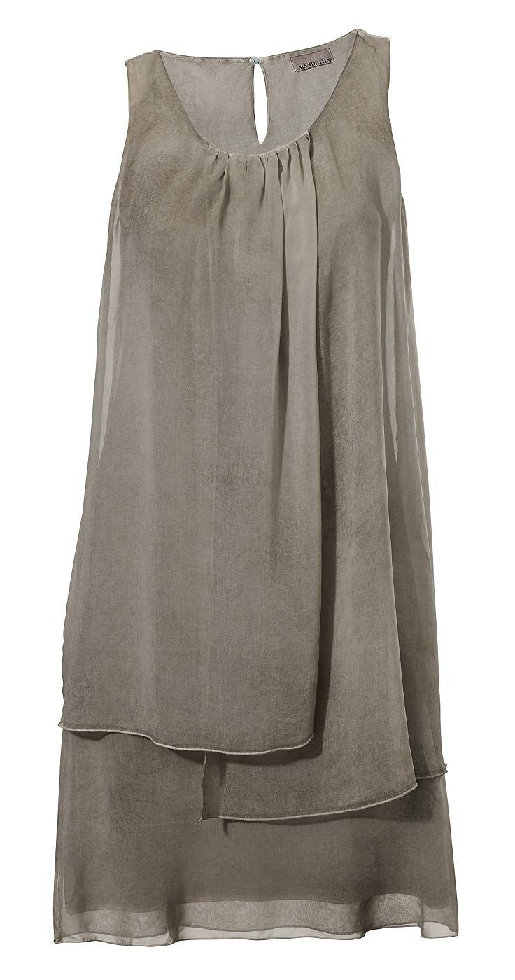 jurk in overgooiermodel beige