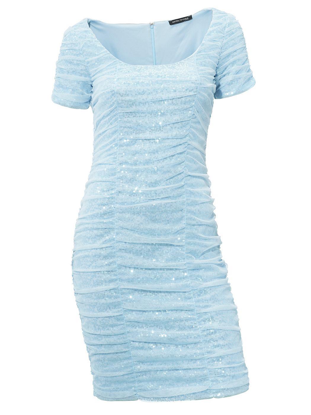 Ashley Brooke Event jurk met pailletten blauw