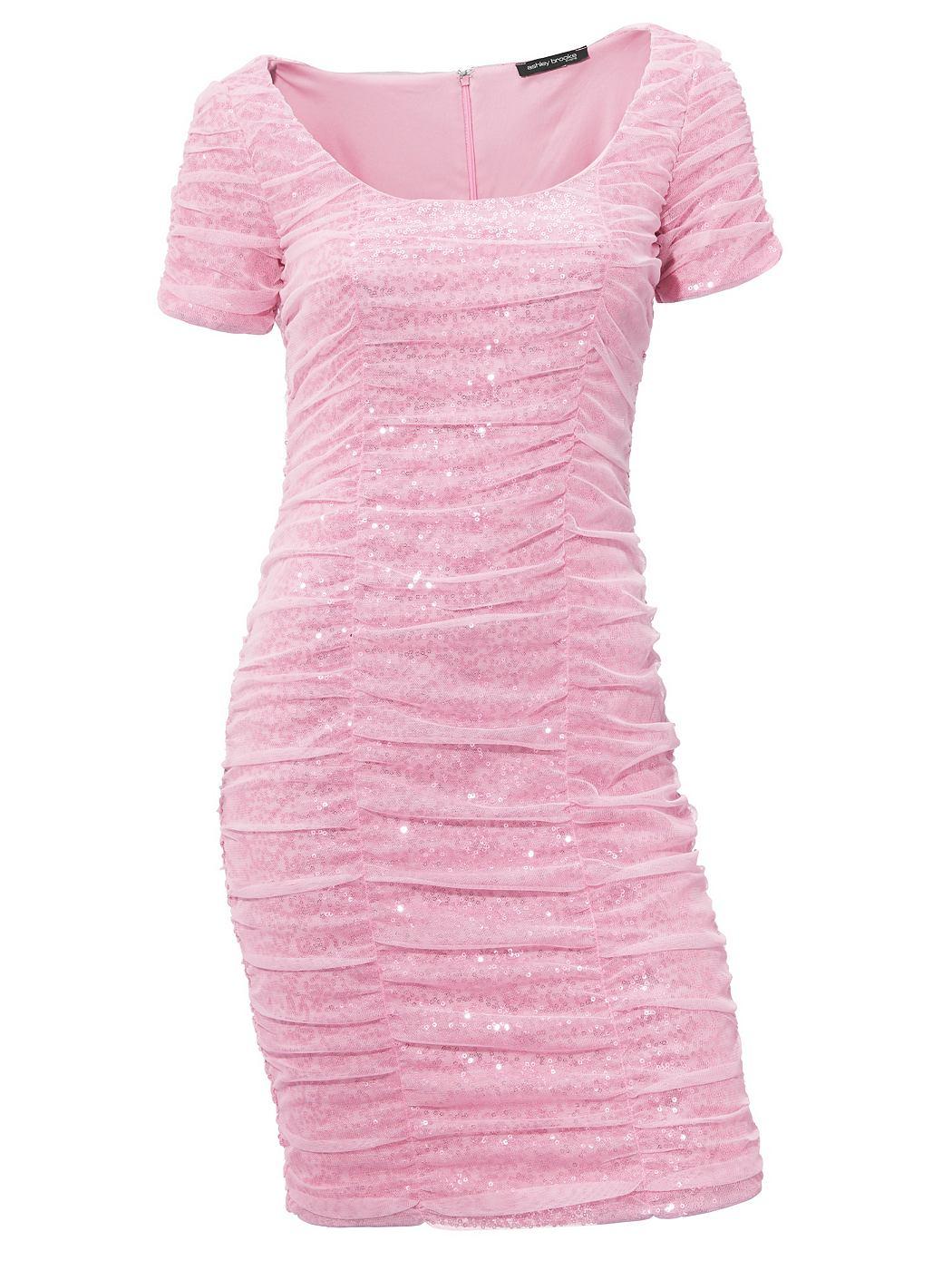 Ashley Brooke Event jurk met pailletten roze