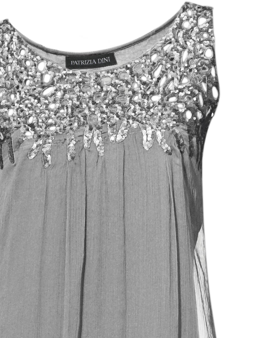 jurk met pailletten grijs
