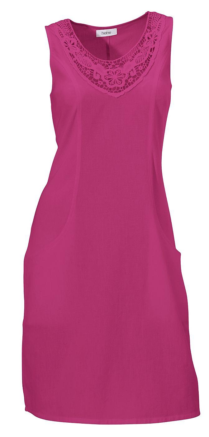 jurk in overgooiermodel roze