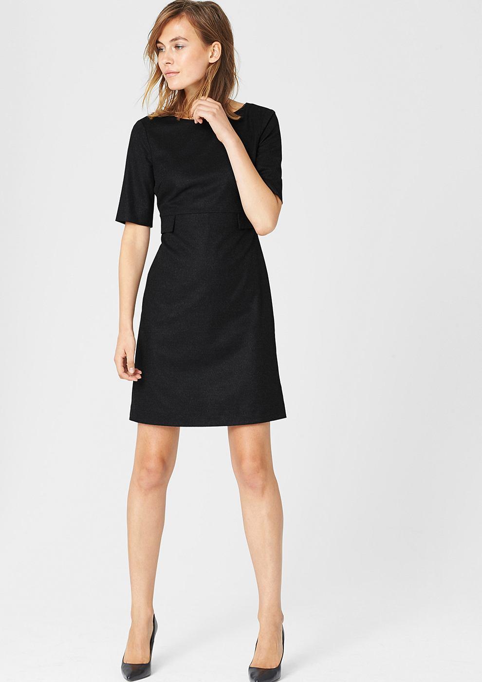 s.Oliver Premium Accentuerende jurk van flanel zwart