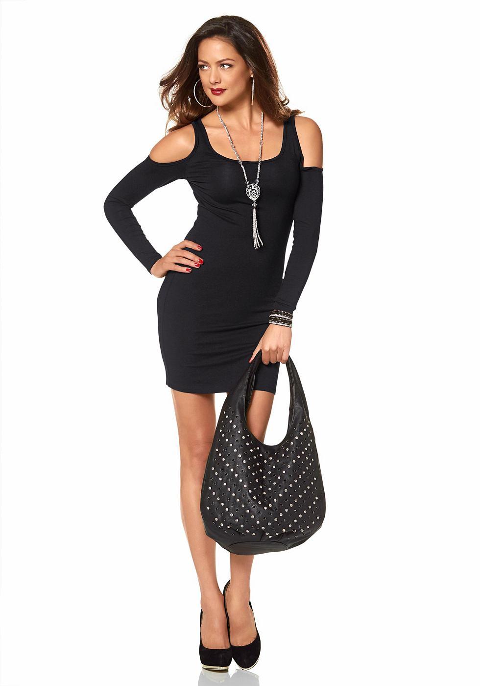Melrose jersey-jurk in minilengte zwart