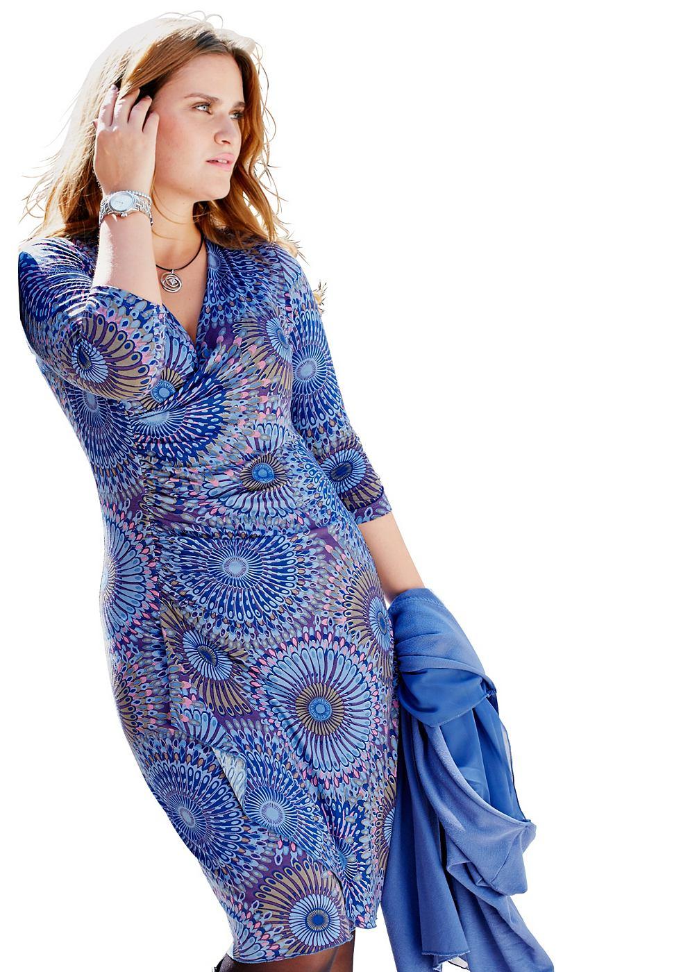 Sheego Style jerseyjurk blauw