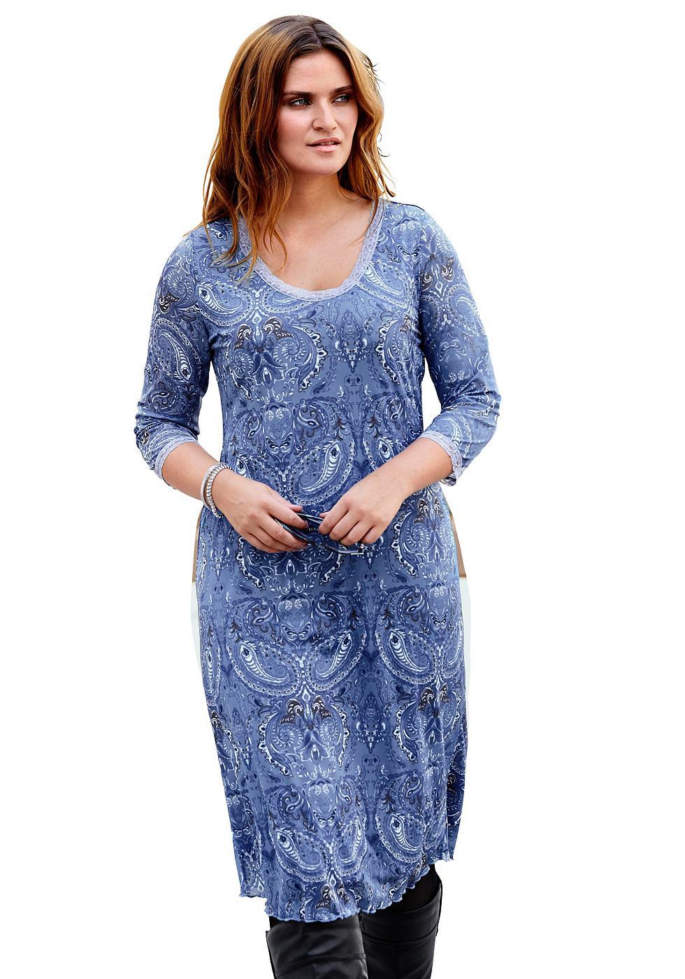 Sheego Style meshjurk blauw
