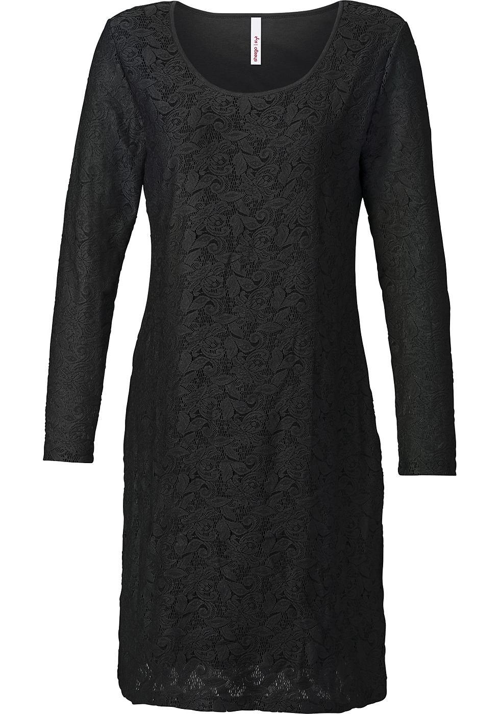 Sheego Style kanten jurk zwart