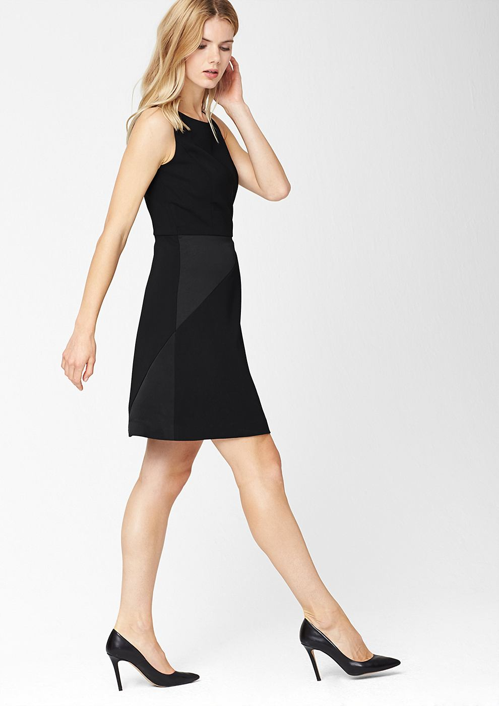 s.Oliver Premium Crepe jurk zwart