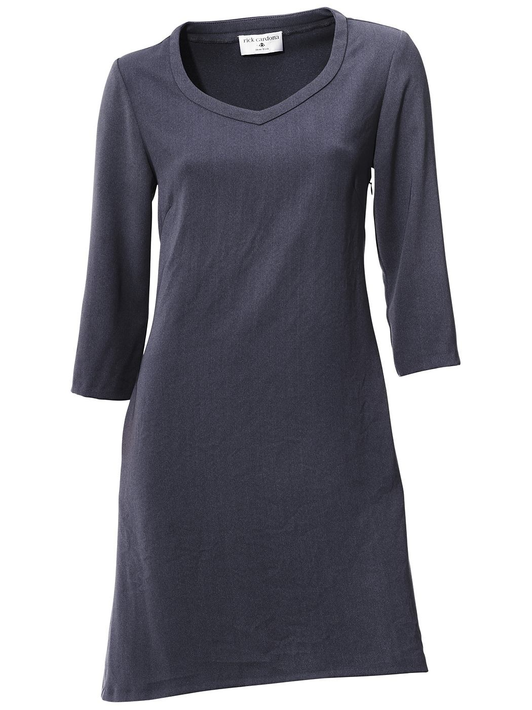 jurk met korte mouwen blauw