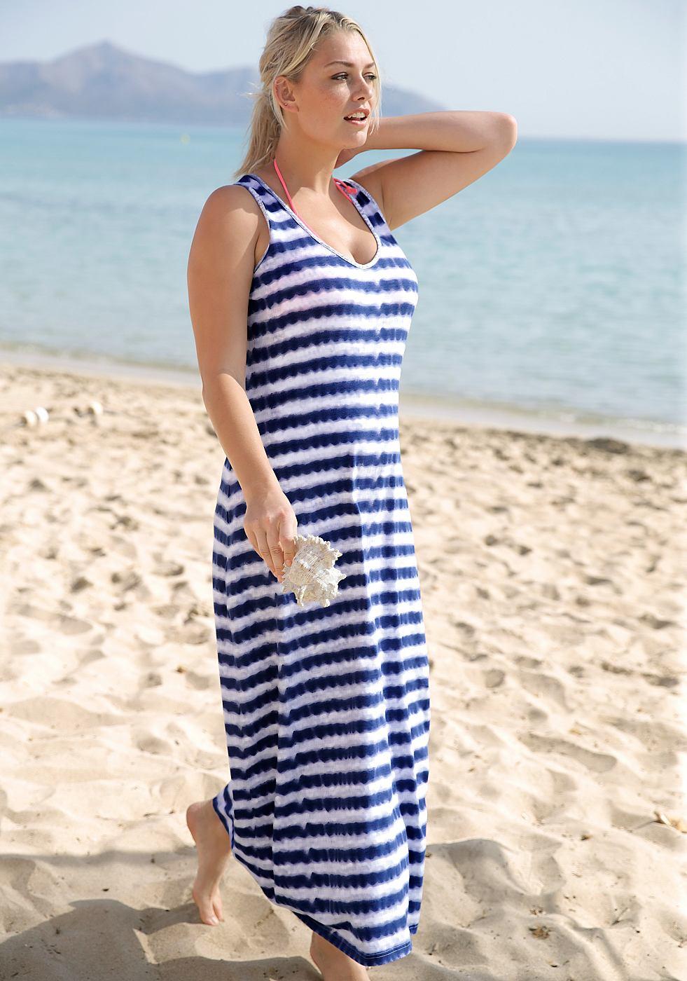 Sheego Casual maxi-jurk blauw
