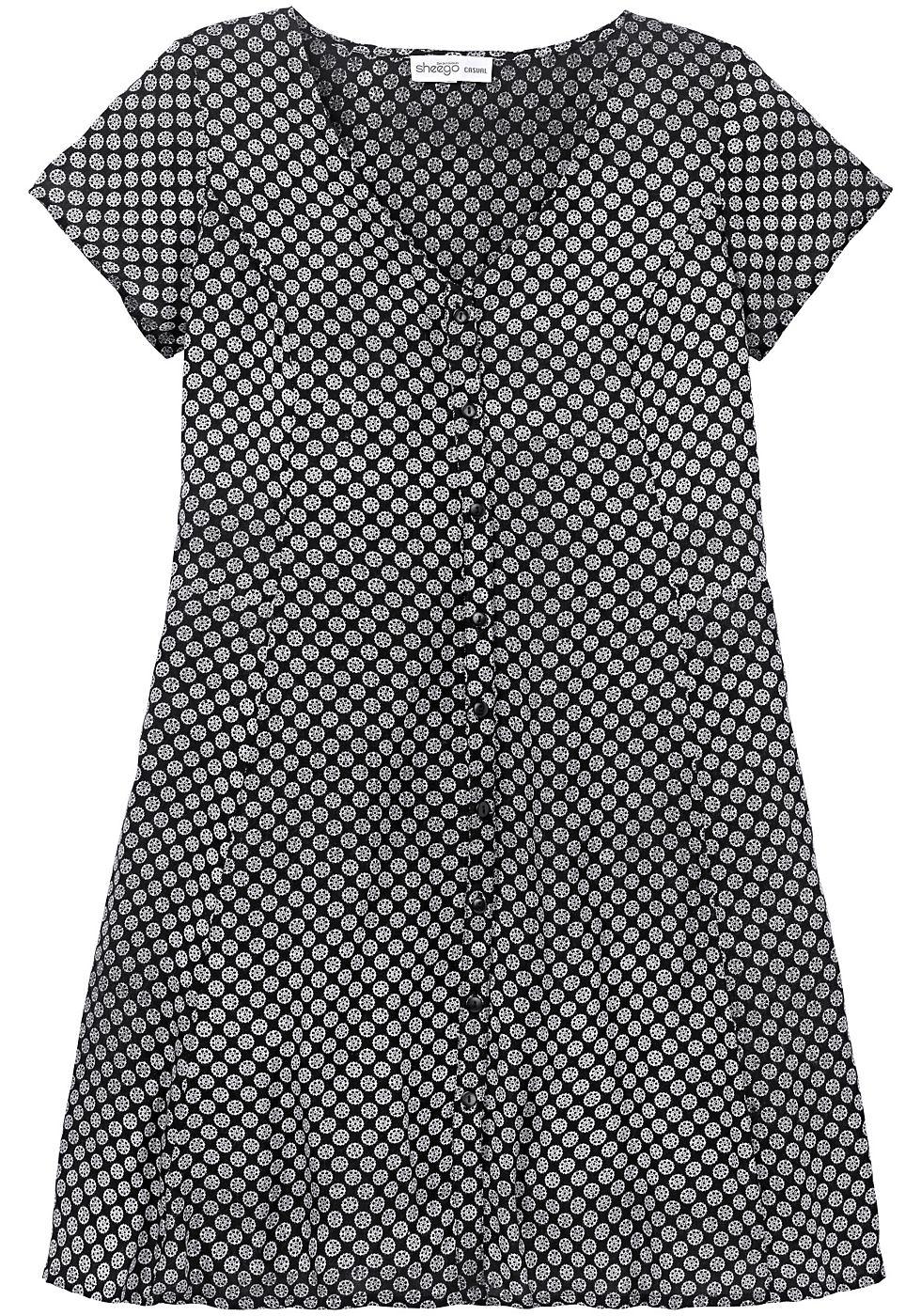 Sheego Casual jurk zwart