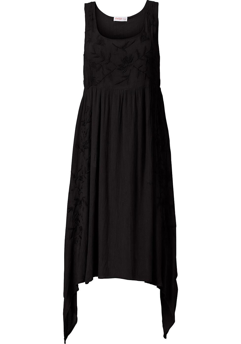 Sheego Style puntjurk zwart