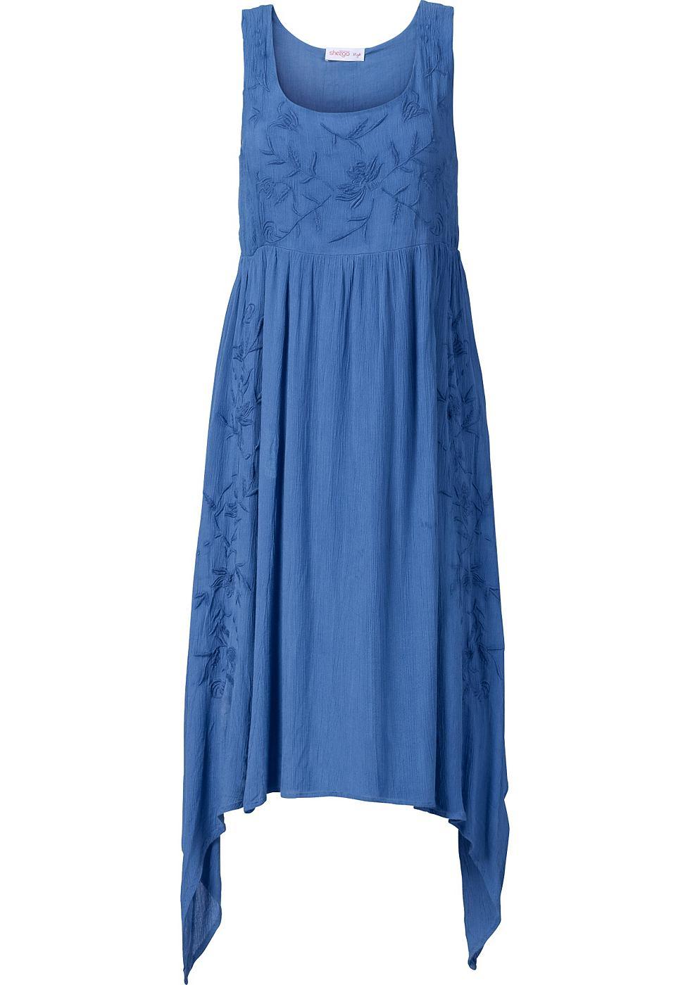 Sheego Style puntjurk blauw