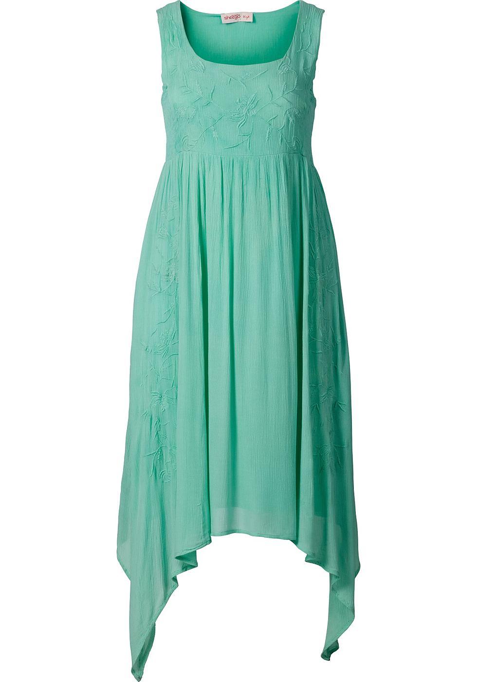 Sheego Style puntjurk groen