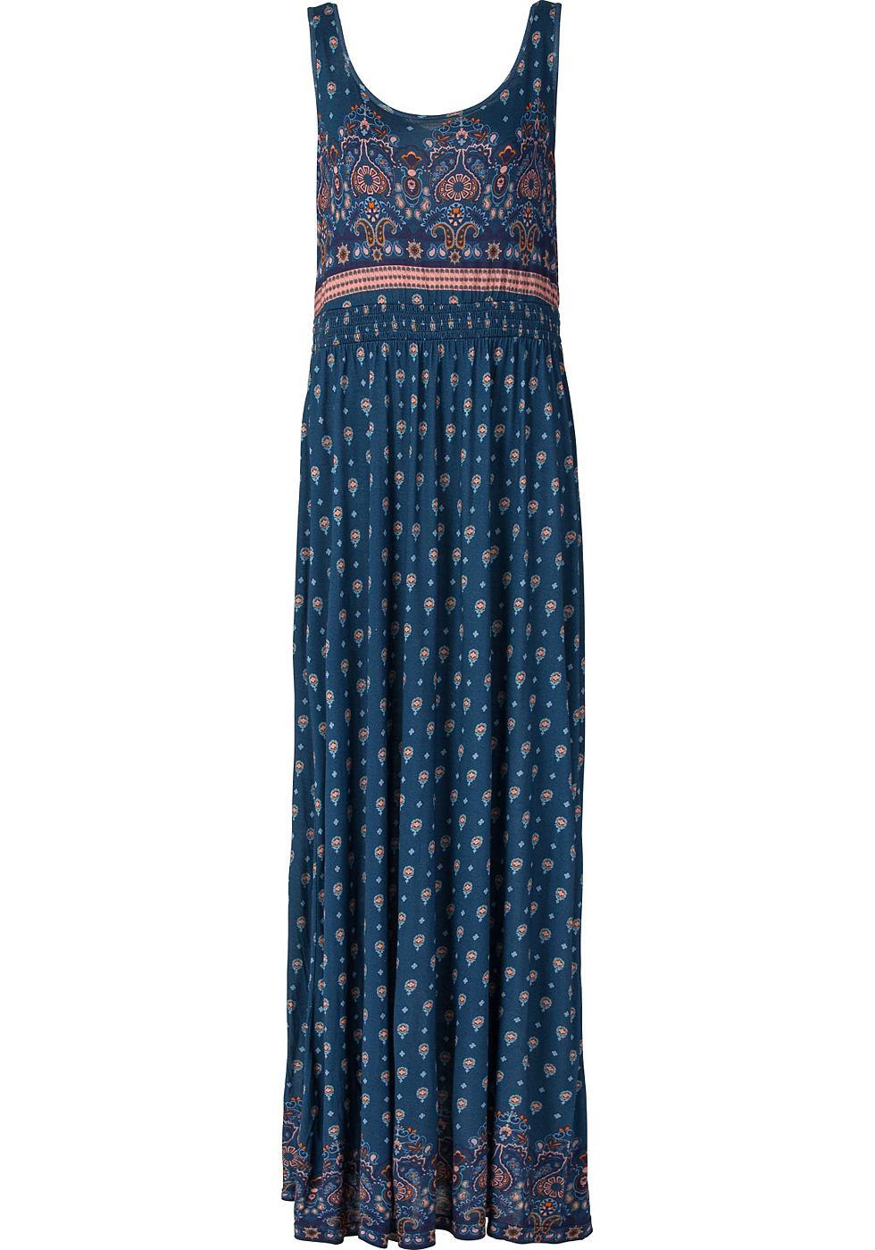 Sheego Casual Maxi-jurk van viscose blauw
