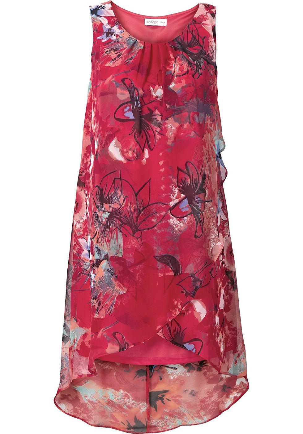 Sheego Style jurk rood