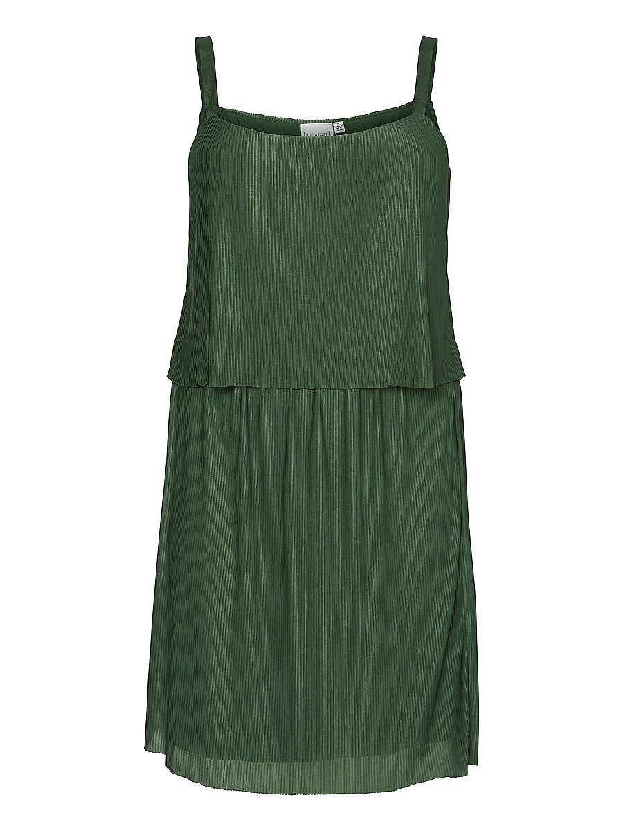 Junarose Geplooide jurk groen
