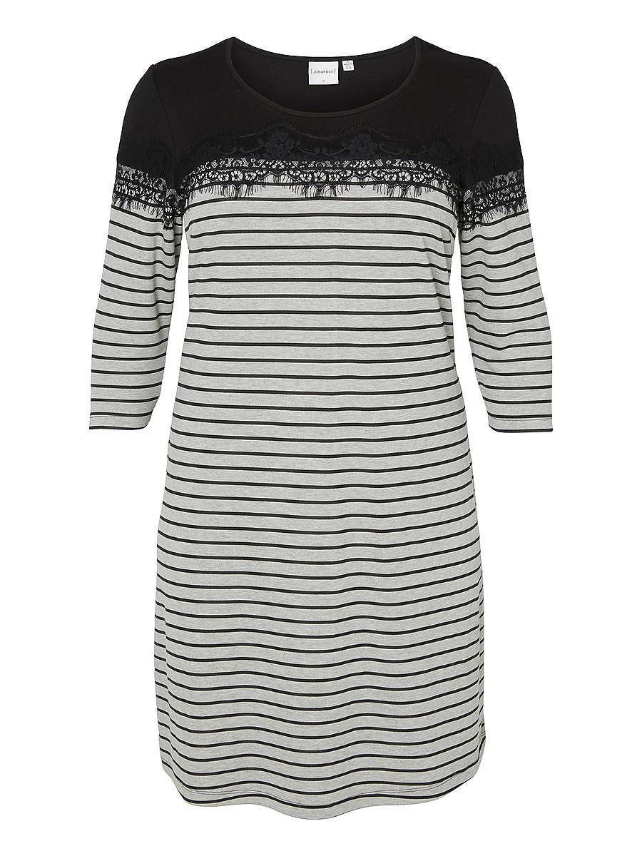 Junarose jurk met 3/4 mouwen jurk grijs