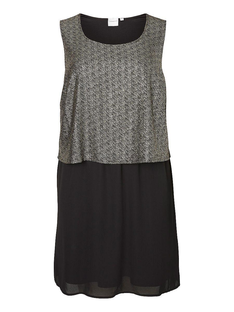 Junarose Mix jurk zwart