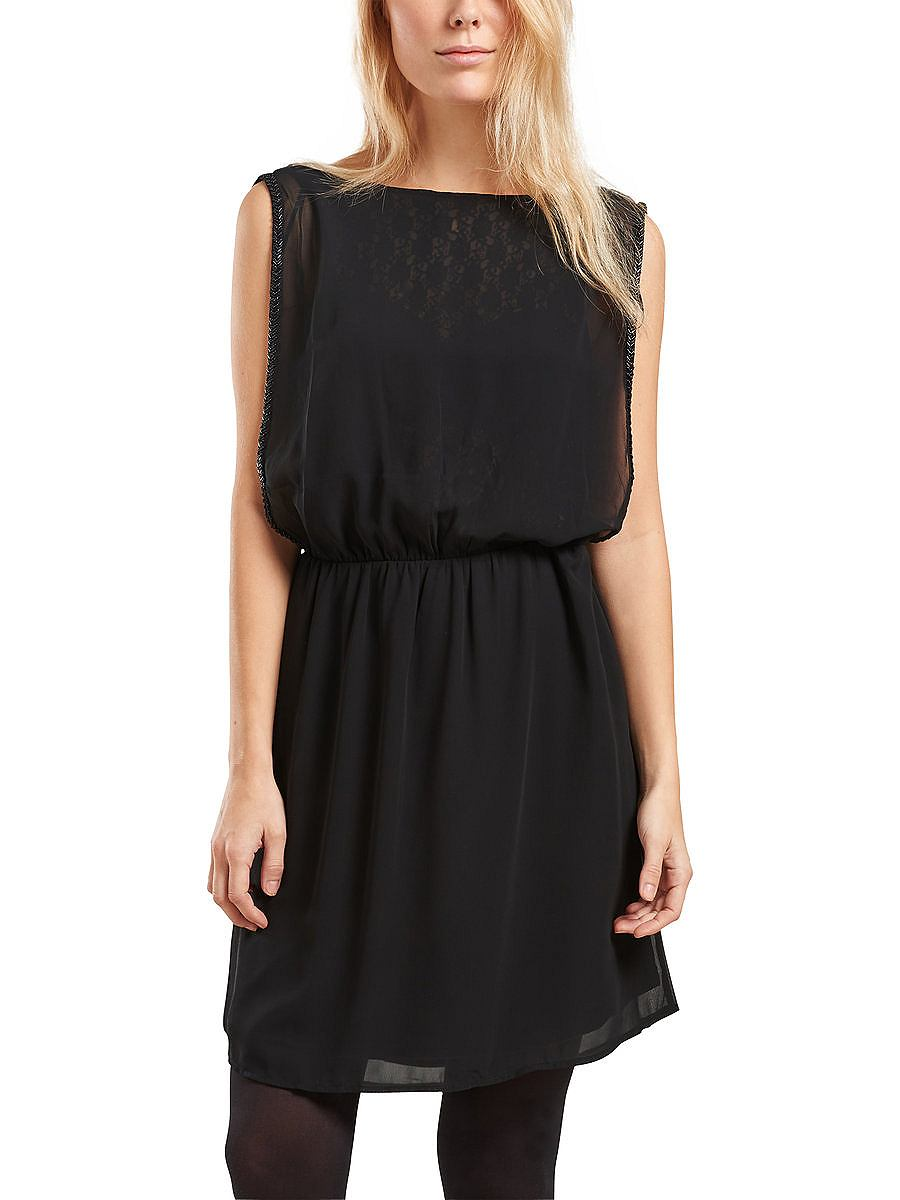 ONLY kanten detail Mouwloze jurk zwart
