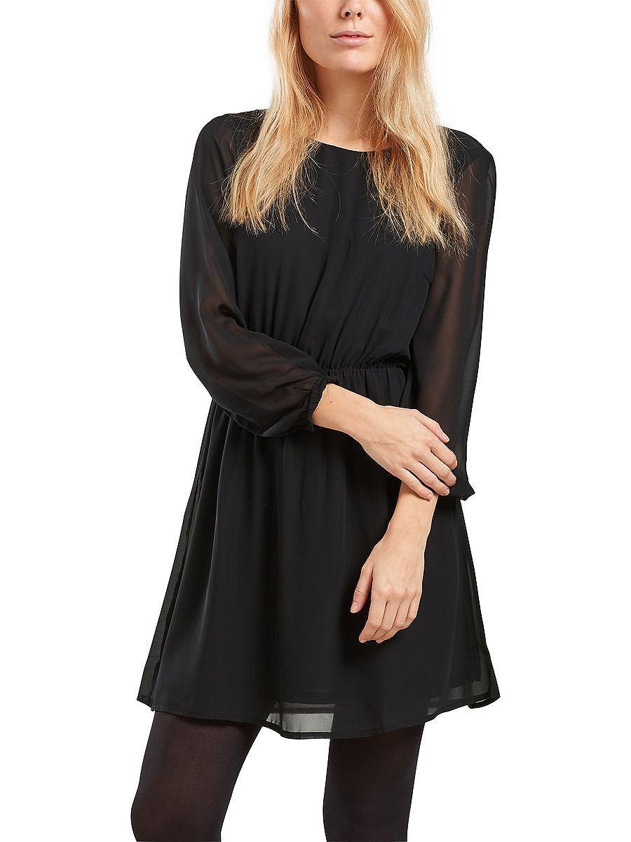 ONLY Gedetailleerd jurk zwart