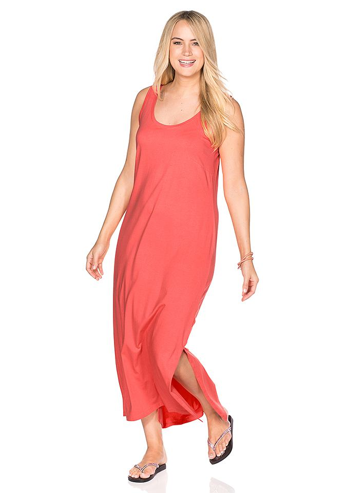Sheego Casual Shirt-jurk met ronde hals rood