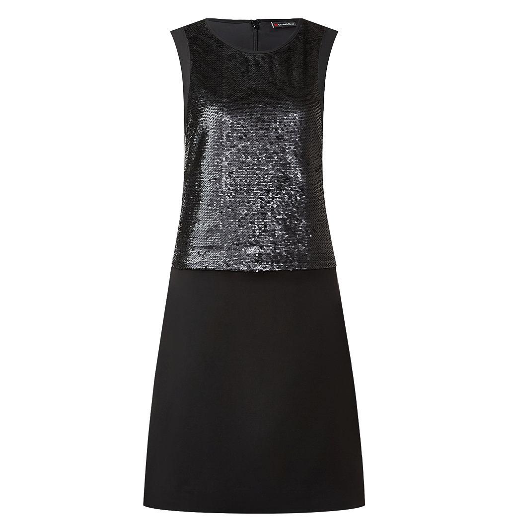 Street One jurk met pailletten Patty zwart