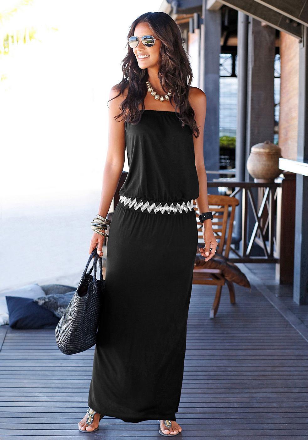 Lascana maxi-jurk zwart