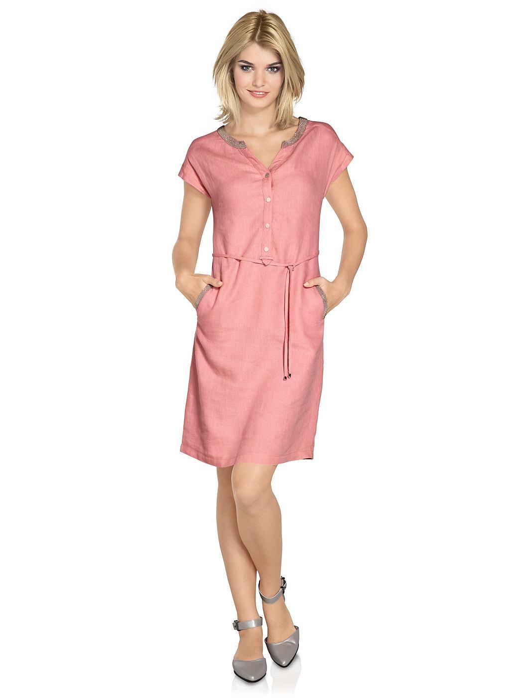Linnen jurk roze