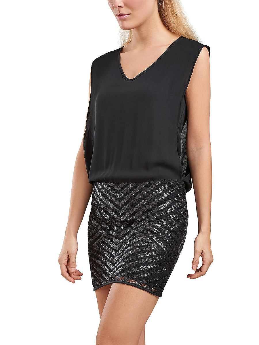 ONLY pailletten jurk met korte mouwen zwart