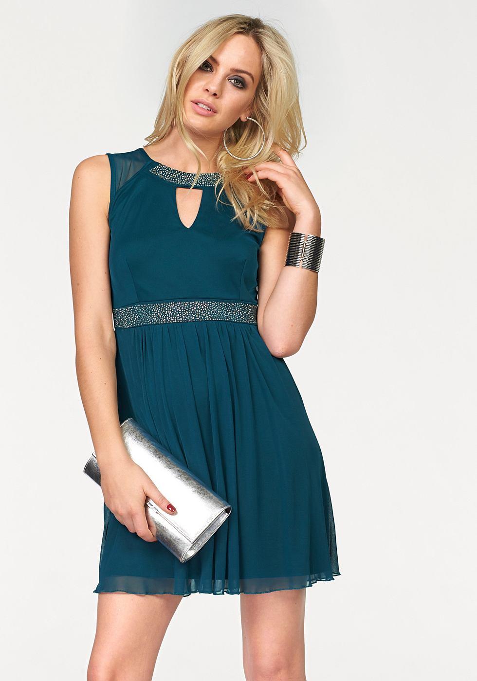 Melrose Party-jurk met strassteentjes blauw