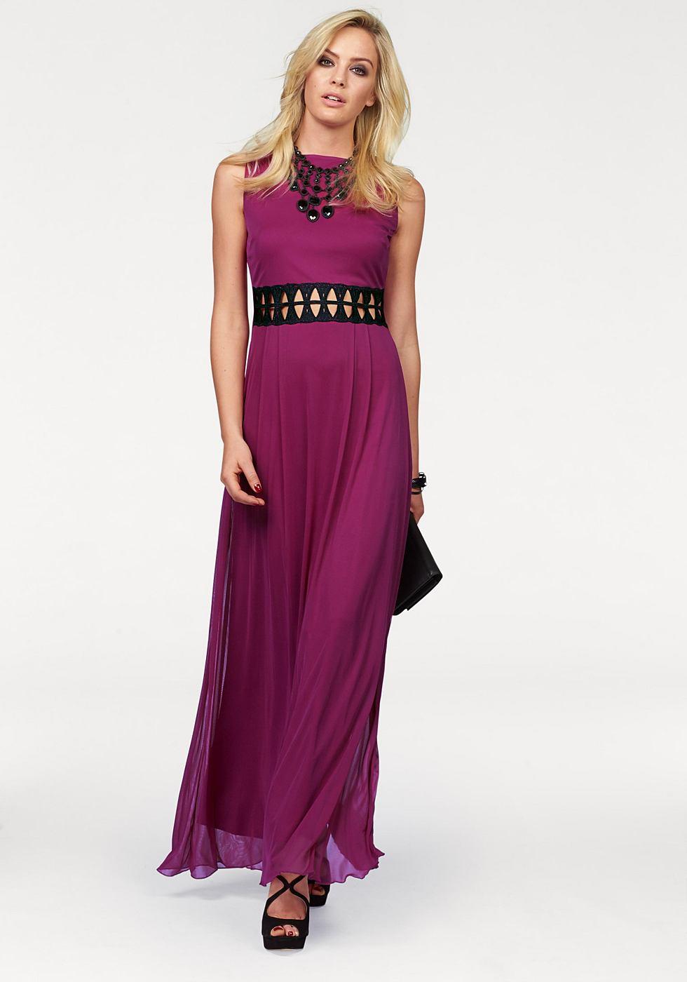 Melrose Maxi-jurk met kanten inzet roze