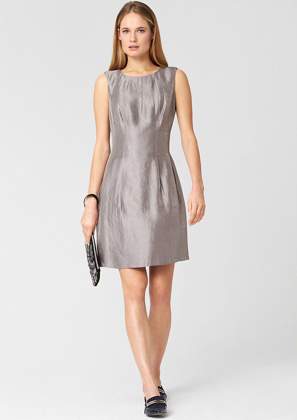 s.Oliver Premium Aansluitende jurk met een glanzend effect rood
